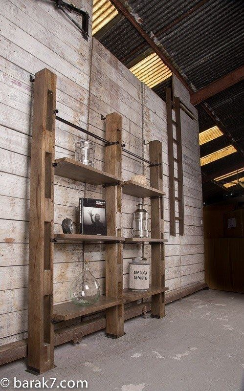 Industrial Furniture Large Industrial Wall Shelving Unit