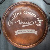 Chaise cuir metal