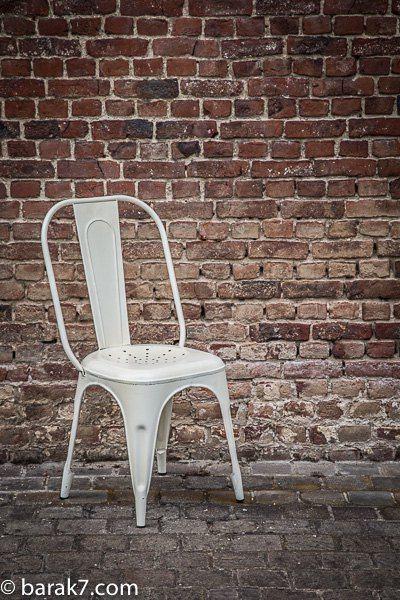 Industrial furniture industrial white metal chair barak 39 7 - Chaise en paille blanche ...