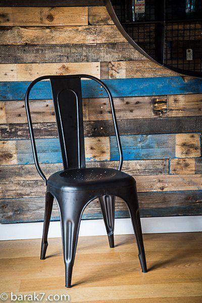 Industrial black metal chair