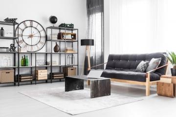 Le style industriel façon factory pour votre salon