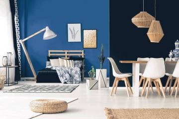 Scandinave, exotique, industriel… quel style de déco pour le bleu indigo ?
