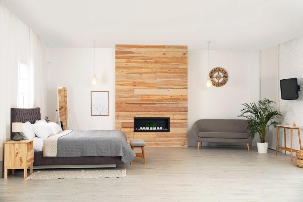 Une chambre à coucher au style scandinave